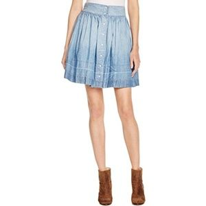 Current/Elliott Snap Front Chambray Skirt size 0